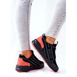 Chaussures de sport en cuir Big Star II274460 Noir le noir rouge 4