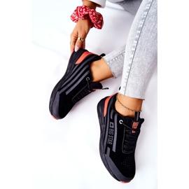 Chaussures de sport en cuir Big Star II274460 Noir le noir rouge 7