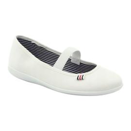 Baskets blanches pour femmes Befado 493Q003 blanc rouge multicolore 1