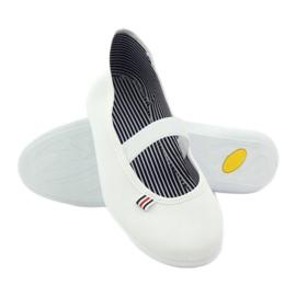 Baskets blanches pour femmes Befado 493Q003 blanc rouge multicolore 3