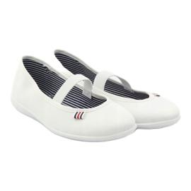 Baskets blanches pour femmes Befado 493Q003 blanc rouge multicolore 4