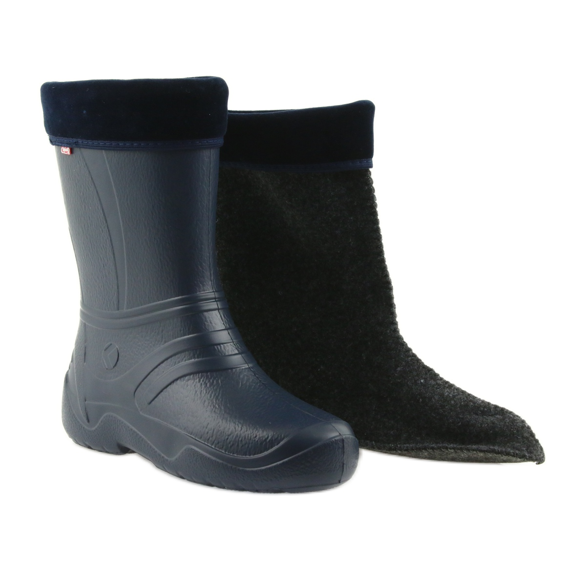 Détails sur Bottes Befado bleu marine pour femmes avec une chaussette 162Q103