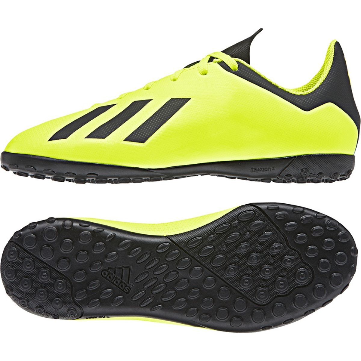 Chaussures football adidas X Tango 18.3 TF Jaune Noir Junior