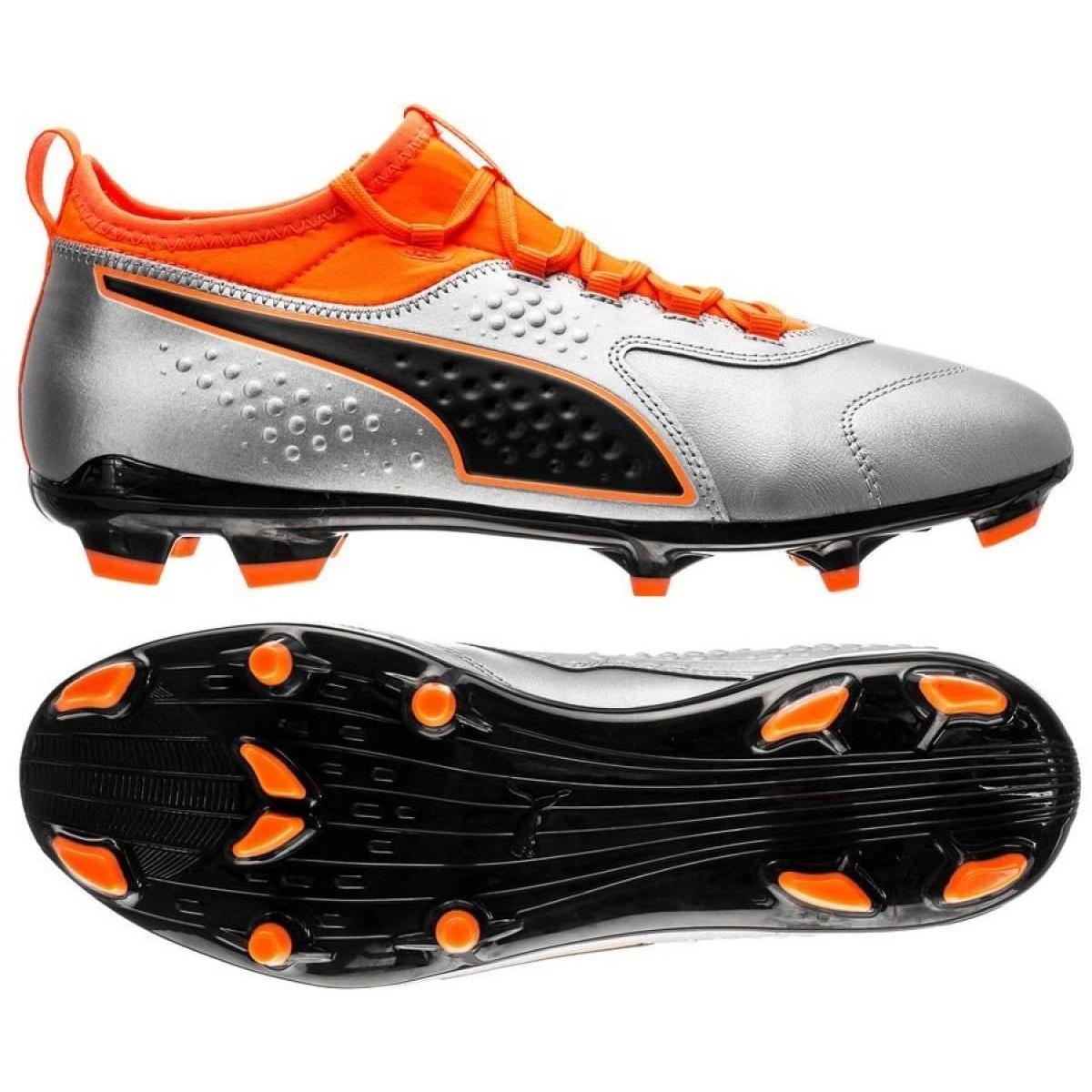 Détails sur Chaussures de football Puma One 3 Lth Fg M 104743 01
