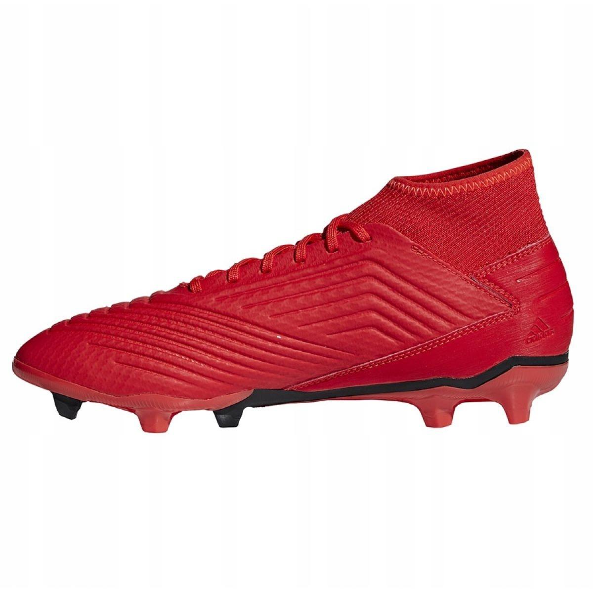 Chaussures de foot adidas Predator 19.1 FG RougeRouge