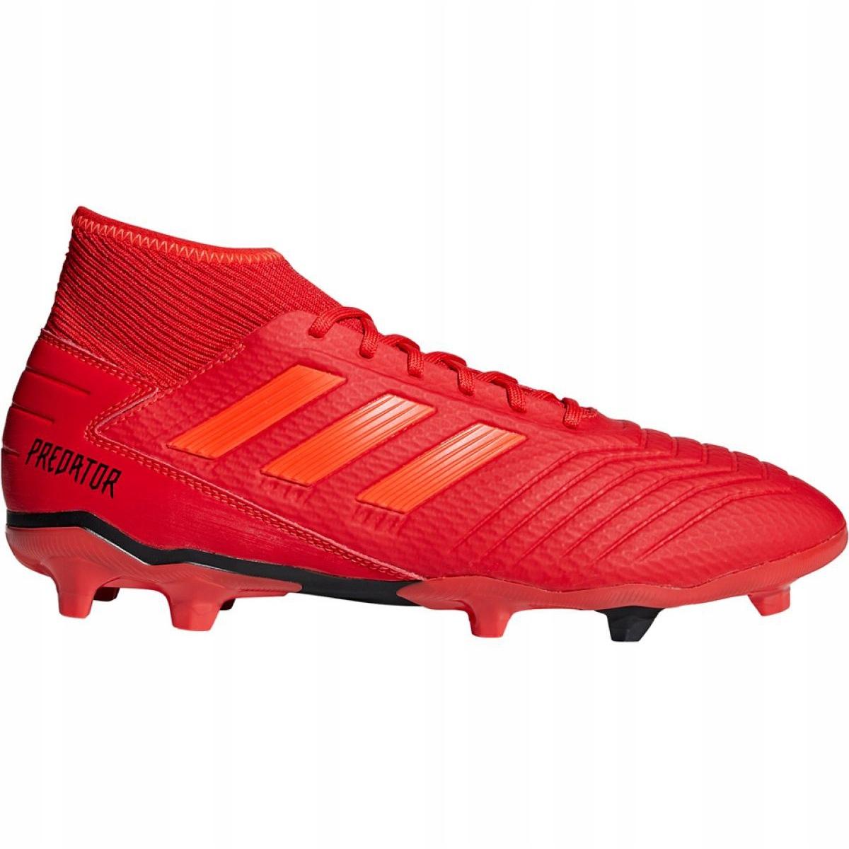Détails sur Chaussures de foot adidas Predator 19.3 Fg M BB9334 rouge rouge