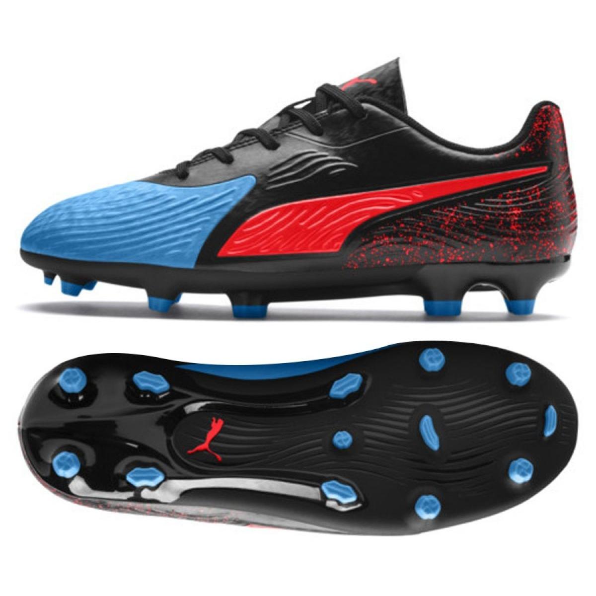 Dettagli su Puma One 19.4 Fg Ag Jr 105501 01 chaussures de football multicolore noir