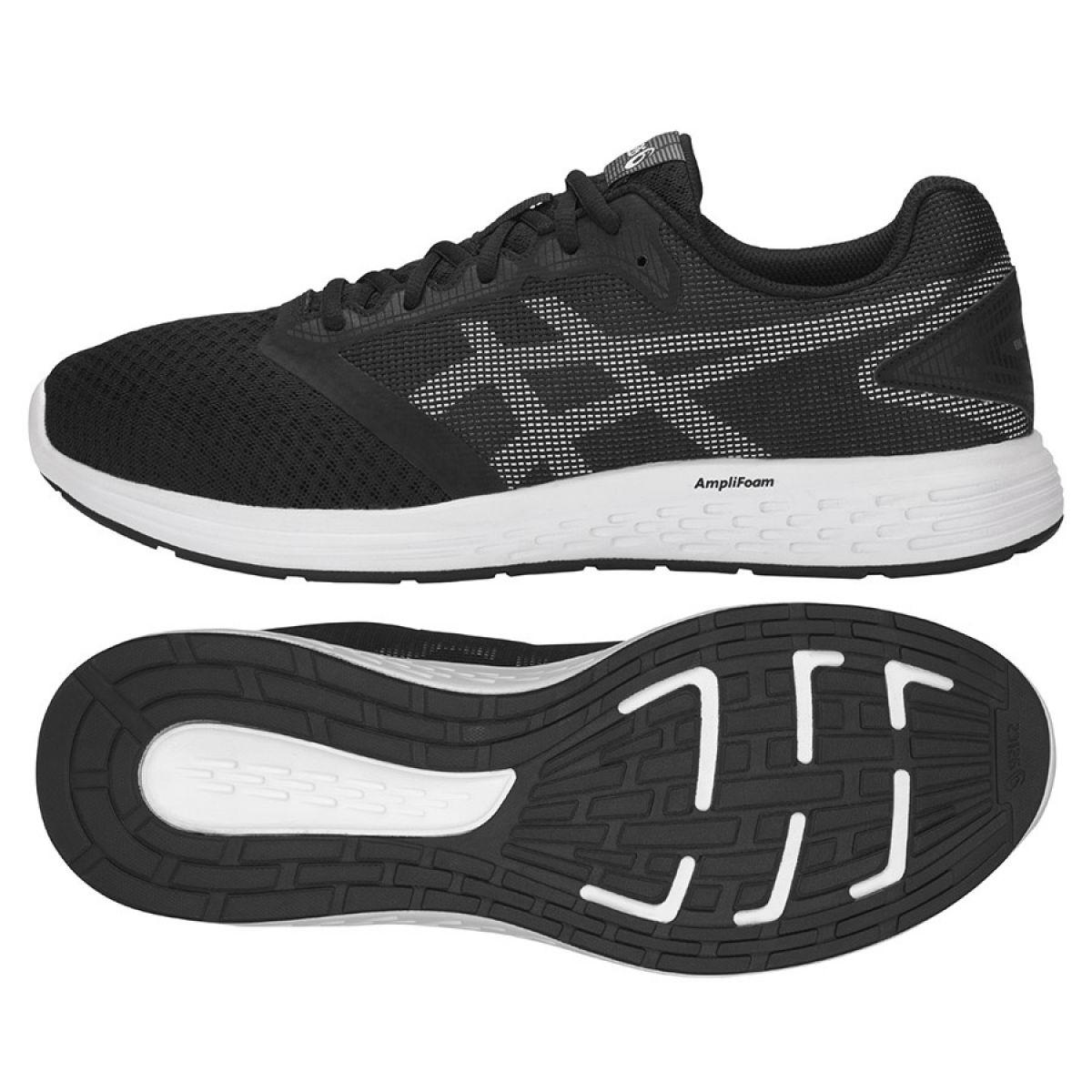Détails sur Chaussures de running Asics Patriot 10 M 1011A131 002 noir