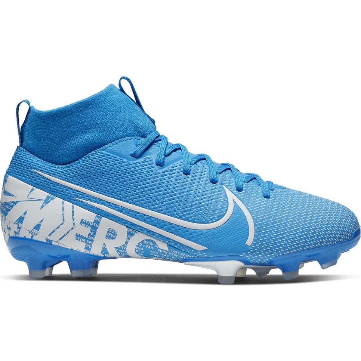 Détails sur Chaussures de foot Nike Mercurial Superfly 7 Academy FG MG Jr AT8120 414 bleu