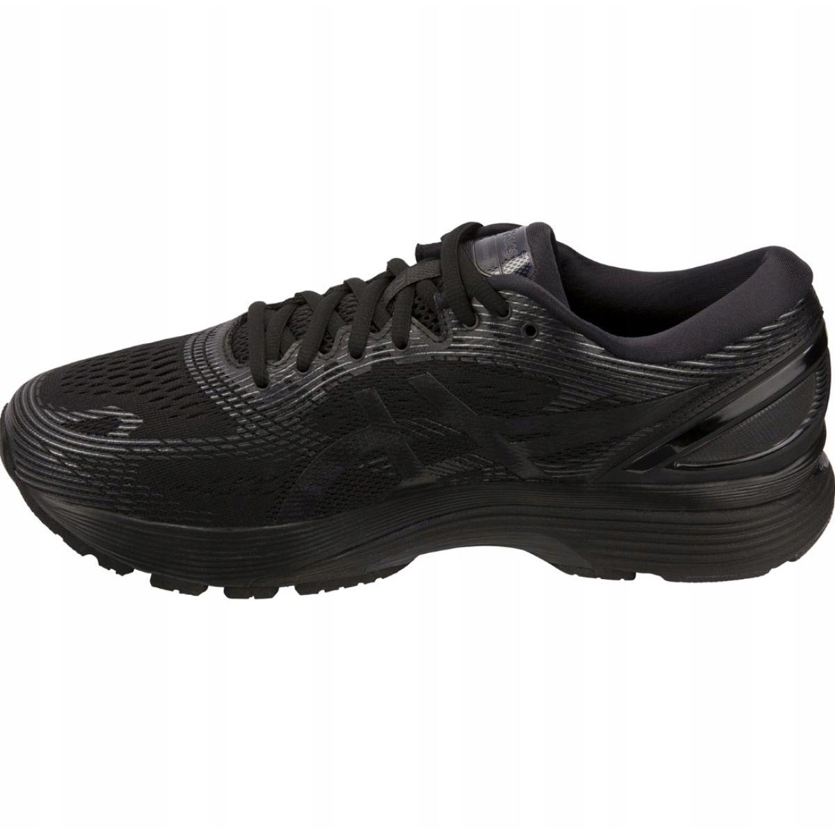Détails sur Chaussures de course Asics Gel Nimbus 21 M 1011A169 004 noir