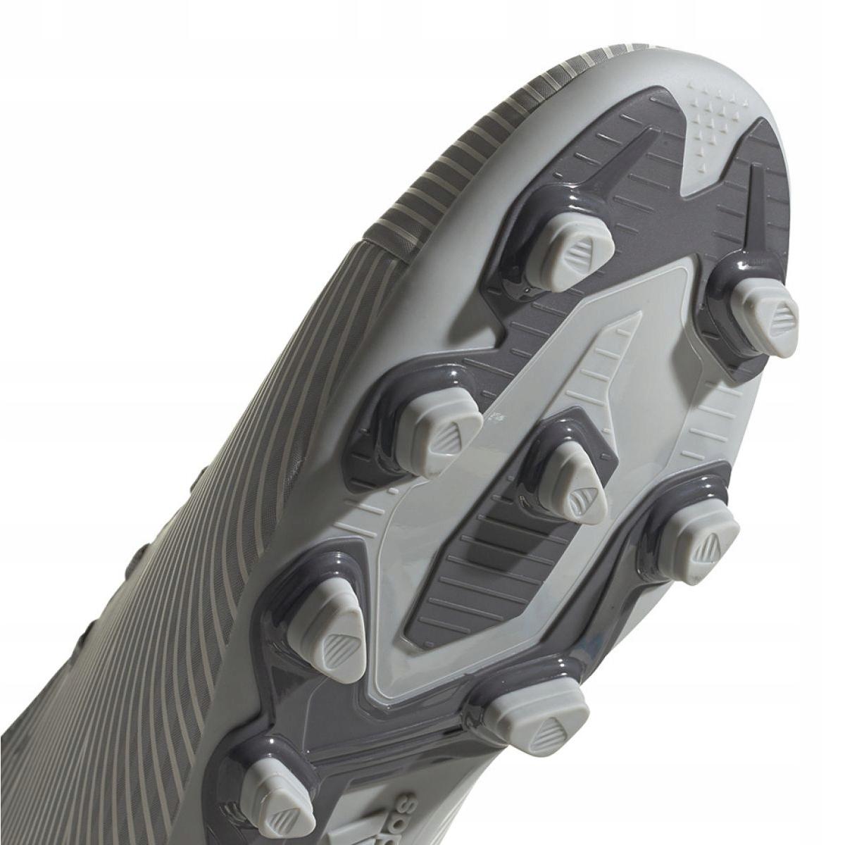 Détails sur Chaussures de football adidas Nemeziz 19.4 FxG EF8292 gris orange, gris argent