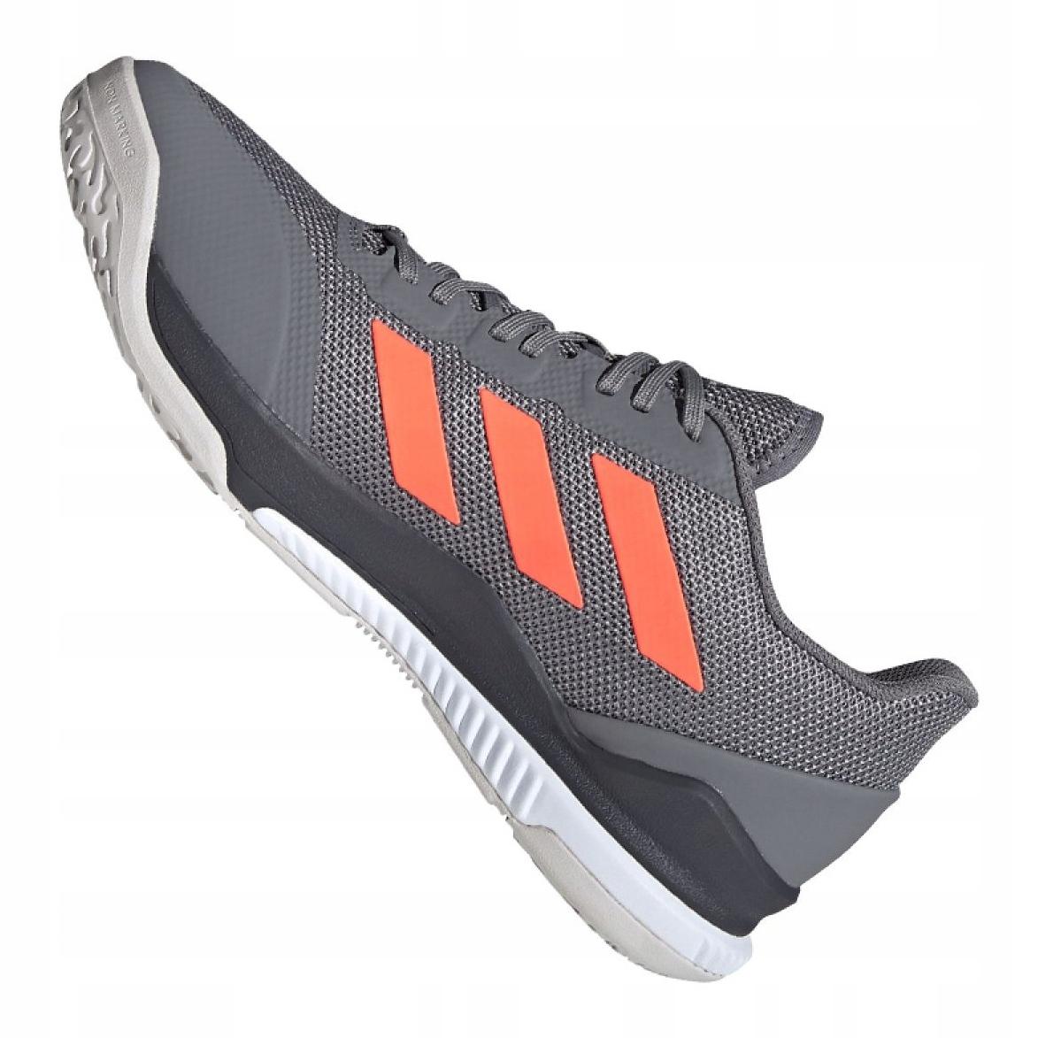 Détails sur Adidas Stabil Bounce M EH0847 chaussures gris vert